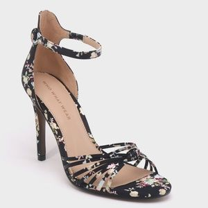 Who What Wear Truth Floral Knotted Stileto Pumps